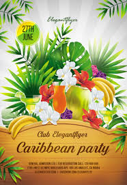 Green Party Flyer Caribbean Party Flyer Psd Template