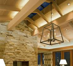 lighting for high ceilings. Living Room Space With Oversized Pendant Fixture And Ambient Light Lighting For High Ceilings