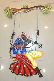 Small Picture Buy Diwali deocorations Radha Krishna Under Jhula Online