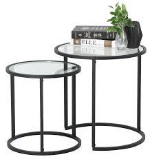 careri 2pcs nesting table set