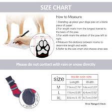 Speedy Pet Waterproof Dog Boots Durable Anti Slip Sole Warm Paw Protector Dog Shoes With Safe Reflective Strip 4 Pcs