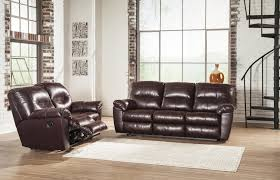 Ashley leather living room furniture Durablend Reclining Living Room Group Prime Brothers Furniture Signature Design By Ashley Kilzer Durablend Reclining Living Room