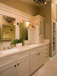 traditional beige tile bathroom idea in seattle with an undermount sink shaker cabinets and beige