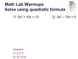 topic 6 2 solving quadratic equations by factoring 7th 9th