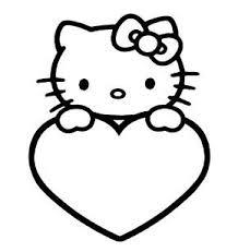 Hello Kitty Met Een Hart Valentijn Kleurplaten Hello Kitty