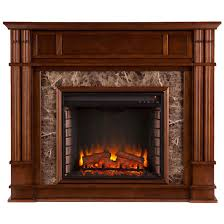 southern enterprises highgate faux stone electric a fireplace whiskey maple