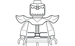 Mighty Micros Thanos Coloring Pages Lego Marvel Super Heroes