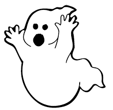 Big Ghost Coloring Page