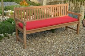 3 seater garden bench cushion 1 4m 4 6 superior quality red