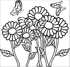 Coloring Pictures Of Flowers And Butterflies Pdf Flower Coloring