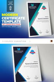 Corporate Certificate Template Corporate Modern Vol 02 Certificate Template