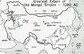 student essay this is a map of the greatest extent of the mongol empire lead by genghis khan