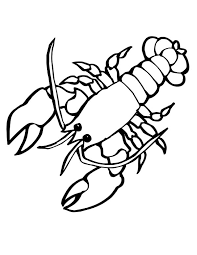 Small Picture Giant Sea Lobster with big Clasp Sea Animals Coloring Page