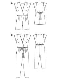 Women's Romper Pattern Stunning Long Wrap Jumpsuit 4848 48B Sewing Patterns BurdaStyle