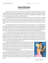 Dance Machine Fifth Grade Reading Comprehension Worksheet ...