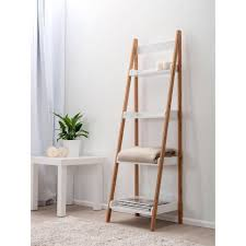 Bookshelf, Stunning Ikea Ladder Shelf Ikea Cube Shelves White With Brown Ladder  Shelf With Towel