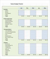 Budget Tracker Template 5 Budget Tracking Templates Free Word Excel Pdf Documents