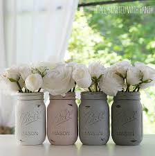 How To Decorate Mason Jars How To Paint and Distress Mason Jars 2
