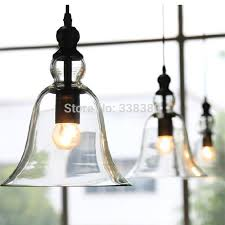 ceiling lights retro vintage industrial style bell shape glass adjustable ceiling lamp light for home restaurant