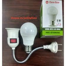 Đuôi đèn & bóng đèn Led Rạng Đông 5w - Combo tiện lợi-tiết kiệm