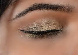 gold eye makeup tutorial step 6 create winged eyeliner