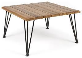 gdf studio keira outdoor industrial teak finish acacia wood coffee table industrial outdoor coffee tables by gdfstudio
