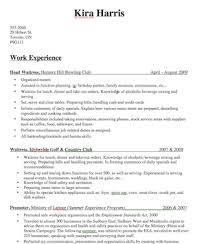 Bartender Resume Descriptions Create A Great Bartender Resume