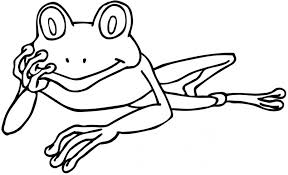 Small Picture Coloring Pages Animals Realistic Frog Coloring Page Tree Frog