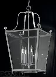 franklite atrio large 4 light polished chrome hanging lantern