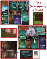 simpsons house floor plan lovely mod the sims the simpsons house 742 evergreen terrace