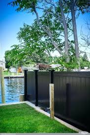 black vinyl privacy fence. Privacy Fencing Black Vinyl Panels From Illusions Fence Are The Perfect Backyard .
