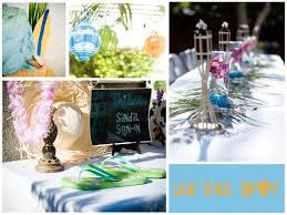 Hawaiian Themed Reception Ideas