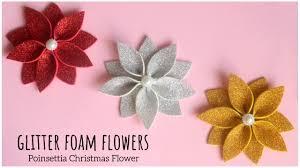 DIY Poinsettia <b>Christmas Flower</b>   Christmas Decoration   Glitter ...