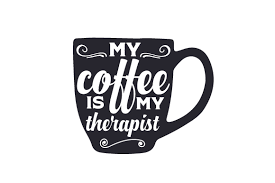 My Coffee Is My Therapist Svg Cut Files Download Rock Climbing Silhouette Svg Free