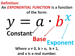 exponential functions math finding growth rate function excel formula to calculate equation for