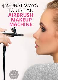 discover 4 of the worst ways to use an airbrush makeup machine including holding it too close to your face and not changing the pre
