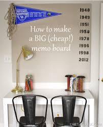 Velcro Memo Board A Big Cheap DIY Memo Board Emily A Clark 79
