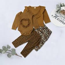 Nannette Baby Clothing Size Chart Details About Us Toddler Kid Baby Girl Ruffle Jumpsuit Tops Leopard Print Pants Cotton Clothes