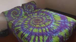 tie dye spiral tie dye bedding quilt