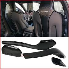 for 2016up bmw f80 m3 sedan f82 f83 m4 coupe convertible carbon fiber front seat cover protector set 4pcs style