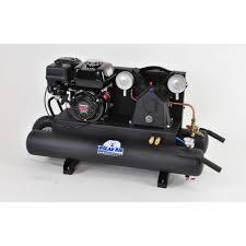 gas air compressor. 6.5hp 2 cylinder 13 cfm honda gas powered wheelbarrow air compressor