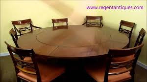 02639 stunning 6ft round english mahogany jupe dining table