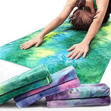 yoga mat towel premium non slip colorful towel soft perfect microfiber hot sweat absorbent fast