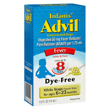 Infants Advil Concentrated Drops Fever White Grape