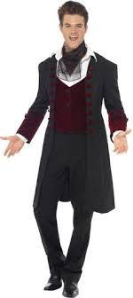 Herrlich Fever Gothic Vampire Menu0027s Fancy Dress Halloween Dracula Vamp Adult Costume  New