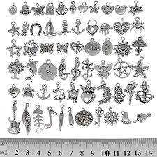 rubyca 120pcs whole mixed silver color charms pendants for bracelet jewelry making supplies just like the picture mix4 amazon co uk kitchen home