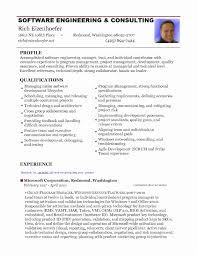 Example Software Developer Resume Software Engineer Resume Template New Software Engineer Resume Pdf 19