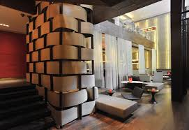 Contemporary Stirred Room Interior Design Rouge Tomate Restaurant NY