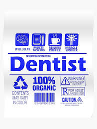 Funny Dentist Nutritional Facts Guide Job Description Meaning Poster