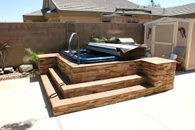 hot tub surrounds diy surround ideas